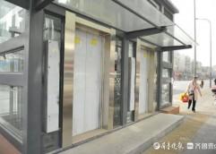 济南泺文路地下人防工程主体建成,出入口亮相
