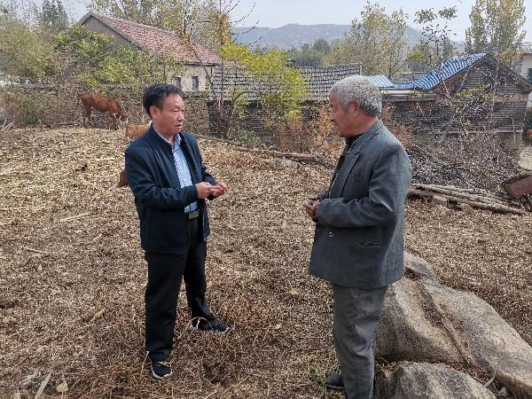 刘年(左一)在田间调查。